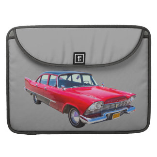 1958 Plymouth Savoy Classic Antique Car Sleeves For MacBook Pro