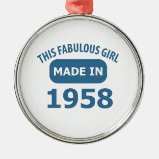 1958 year fabulous designs metal ornament