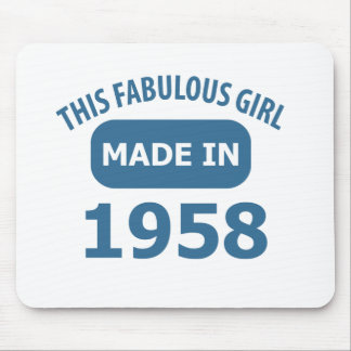 1958 year fabulous designs mouse pad