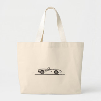 1959 1960 Chevrolet Corvette Tote Bags