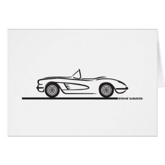 1959 1960 Chevrolet Corvette Card