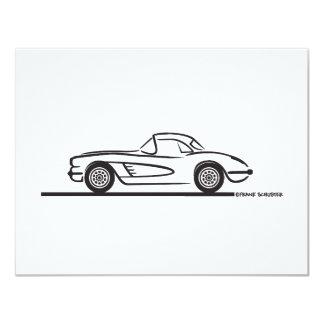 1959 1960 Chevrolet Corvette Hardtop 4.25x5.5 Paper Invitation Card