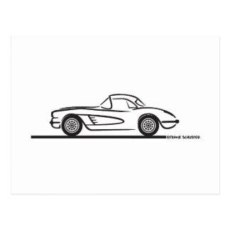 1959 1960 Chevrolet Corvette Hardtop Postcard