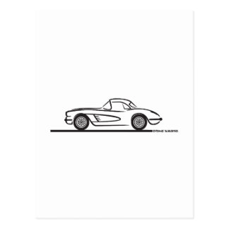 1959 1960 Chevrolet Corvette Hardtop Postal
