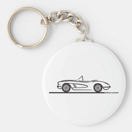 1959 1960 Chevrolet Corvette Keychain