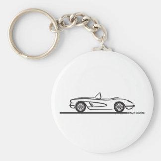 1959 1960 Chevrolet Corvette Llavero Redondo Tipo Pin