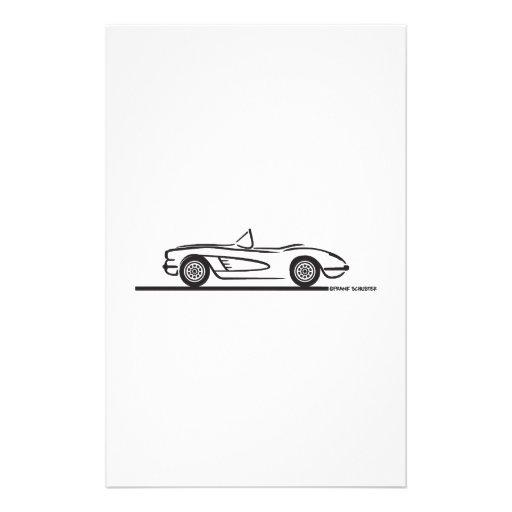 1959 1960 Chevrolet Corvette Papeleria De Diseño