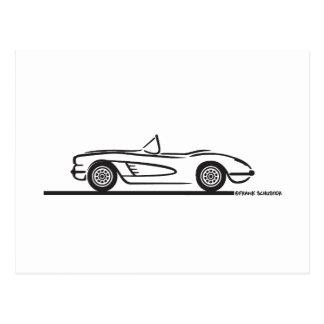1959 1960 Chevrolet Corvette Postcard