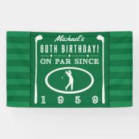 1959 60th Birthday For Golfers Banner