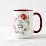 """1959 60th Birthday Woman Watercolor Roses Custom Mug<br><div class=""""desc"""">Whether this is your mother, grandmother or even great grandmother (family friend, neighbor etc) turning 60 (sixty) is a major milestone and this wonderful woman should be celebrated and honored in style. This wonderful watercolor red roses themed item features her year of birth '1959' (can be edited) and the words...</div>"""