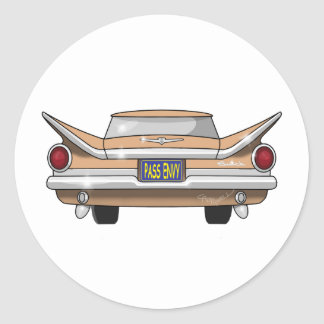 1959 Buick Electra Pass Envy Classic Round Sticker