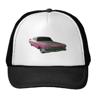 1959 Caddilac Big Pink Fins Trucker Hat