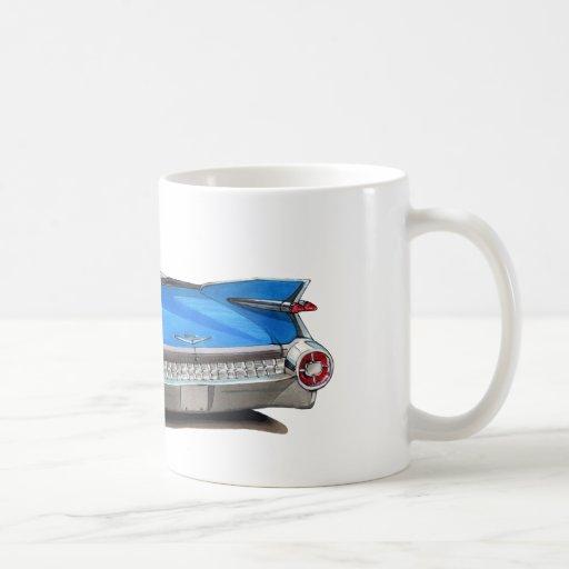 1959 Cadillac Blue Car Coffee Mugs