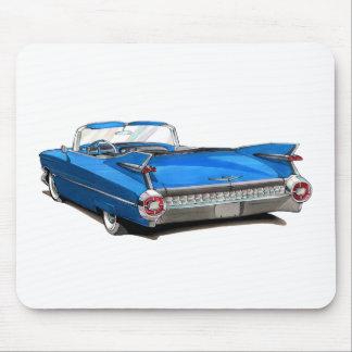 1959 Cadillac Blue Car Mouse Pad