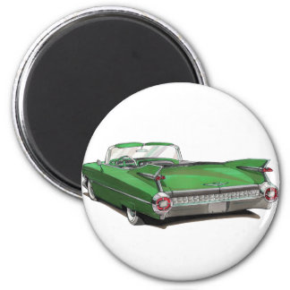 1959 Cadillac Green Car Magnet