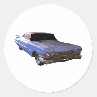 1959 Cadillac light Classic Round Sticker