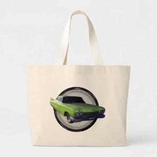1959 Cadillac lime Jumbo Tote Bag