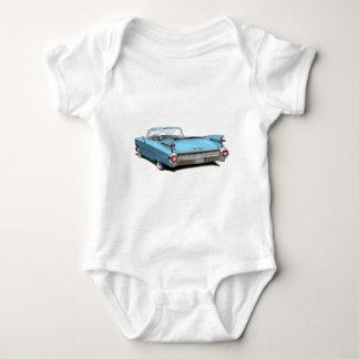 1959 Cadillac Lt Blue Car Infant Creeper