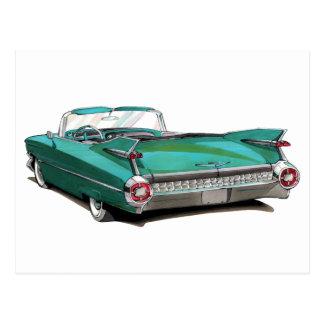 1959 Cadillac Teal Car Postcard