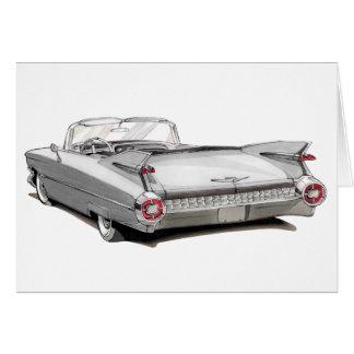 1959 Cadillac White Car Card