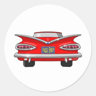 1959 Chevrolet Chevy Impala Pass Envy Classic Round Sticker