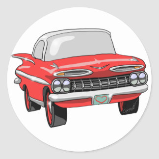 1959 Chevrolet Classic Round Sticker