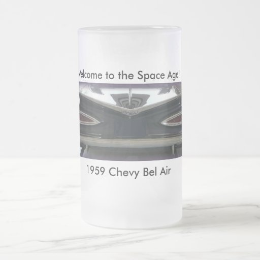 1959 Chevy Bel Air Frosted Glass Beer Mug
