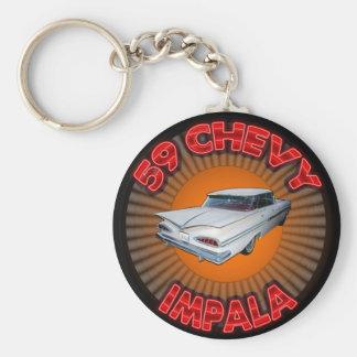 1959 Chevy Impala Keychain. Basic Round Button Keychain