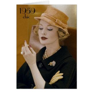 1959 Chic Vintage Fashion Birthday Card