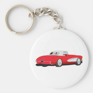 1959 Corvette Basic Round Button Keychain