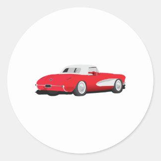 1959 Corvette Classic Round Sticker