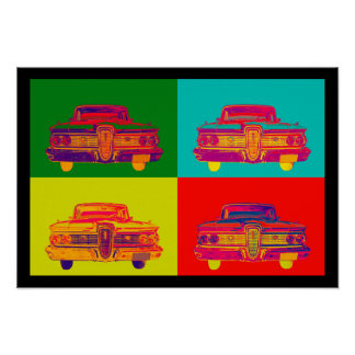 1959 Edsel Ford Ranger Colorful Car Pop Art Posters