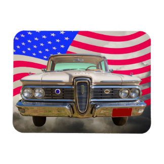 1959 Edsel Ford Ranger with American Flag Magnets