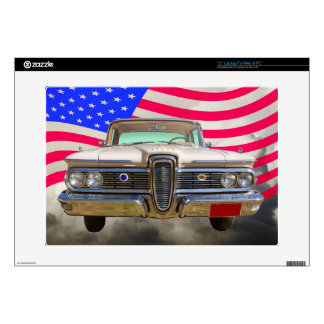 1959 Edsel Ford Ranger with American Flag Laptop Decal