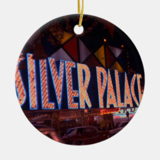 1959 Las Vegas Silver Palace Casino Neon Sign Ceramic Ornament