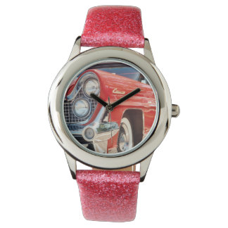 1959 Lincoln Glitter with Pink Glitter Strap Wrist Watch