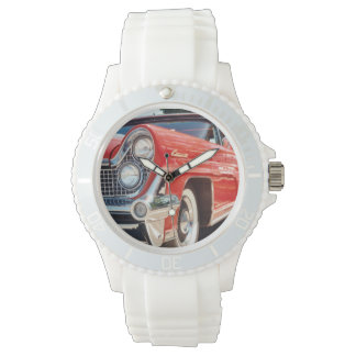 1959 Lincoln Sporty with White Silicone Strap Wrist Watch