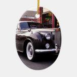 1959 obra clásica Rolls Royce Adorno Navideño Ovalado De Cerámica