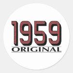 1959 Original Round Sticker