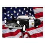 1959 policía retra del estado postales