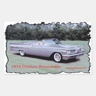 1959_Pontiac_Bonneville Rectangular Sticker