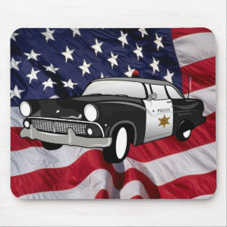 1959 retro Black - State Police Mouse Pad