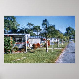 1959 Retro Trailer Park St. Petersburg Florida Poster