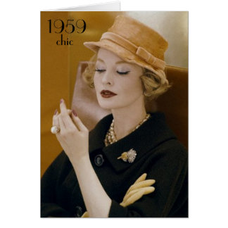 1959 tarjetas de cumpleaños elegantes de la moda d