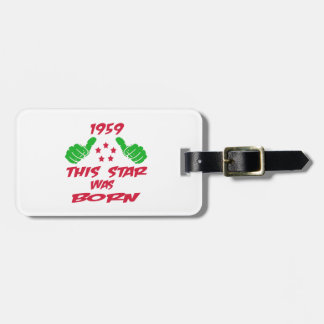 1959 this star was born bag tag