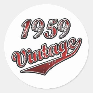 1959 Vintage Classic Round Sticker