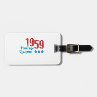 1959 vintage leaque luggage tags