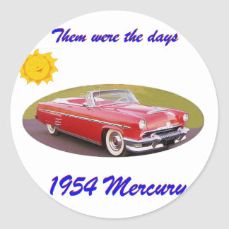 195 4Mercury Classic Round Sticker