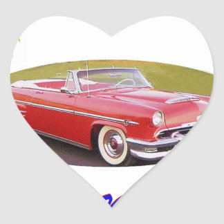 195 4Mercury Heart Sticker