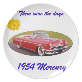 195 4Mercury Melamine Plate